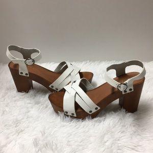 Madden Girl white sandals size 8